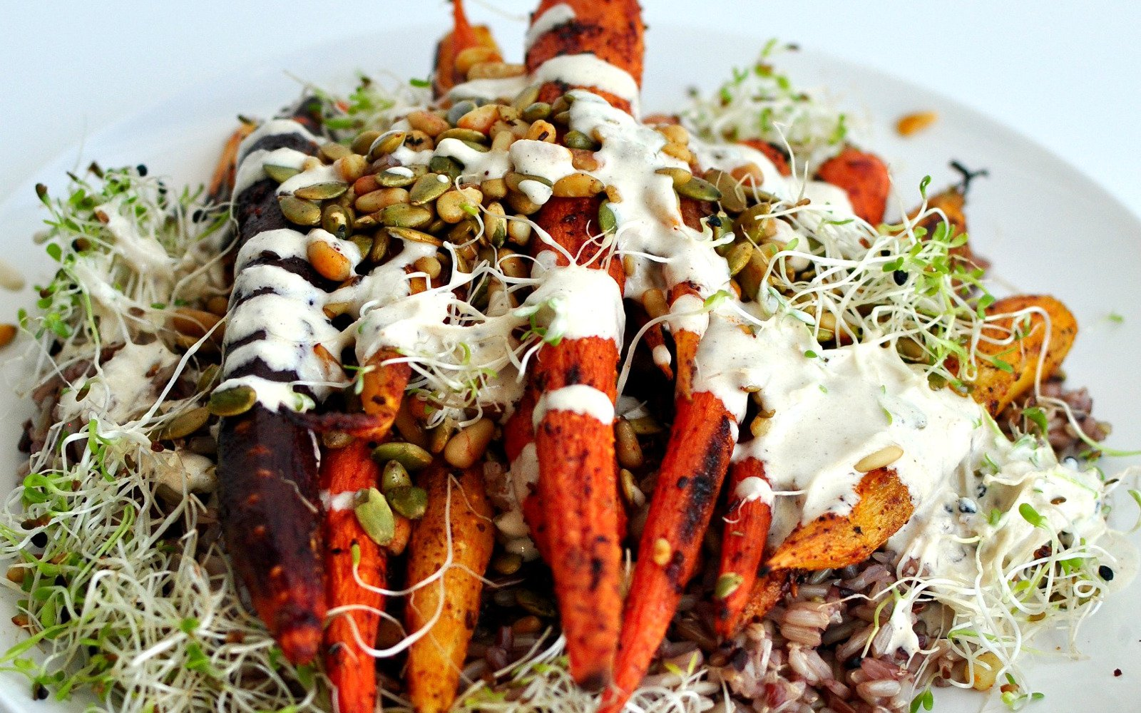 Roasted spiced carrots 4